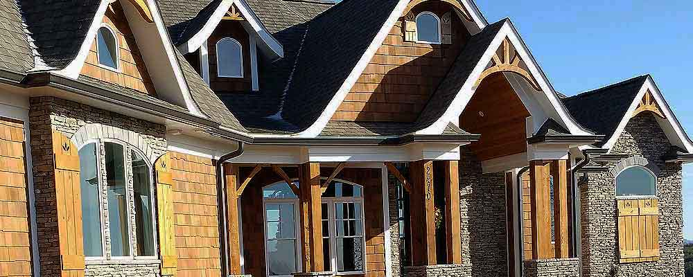 Custom Prefinished Cedar Shingles